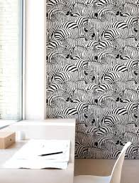 Zebra Print Behang