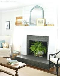 cool painted brick fireplace white fireplace painting red brick fireplace white