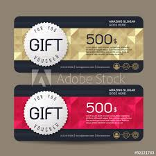 gift certificate for business gift voucher template with premium pattern cute gift voucher
