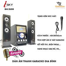 Dàn Âm Thanh Giải Trí Đỉnh Cao- Loa Vi Tính Hát Karaoke Âm Thanh Đỉnh Cao  Có Kết Nối Bluetooth Isky - SK328