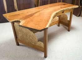 custom wood office furniture. Wood Computer Desk Custom Slab Office With Hutch Furniture