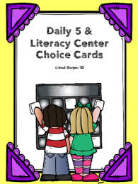 Daily 5 Pocket Chart Cards Daily 5 Literacy Center Pocket Chart Cards By Southern And