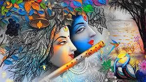Beautiful Painting Art Of Krishna HD ...