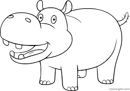 hippo coloring pages coloringall