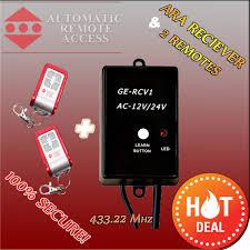 2 x ara garage door and gate motor wireless handheld remote frequency receiver