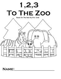 Small Picture 123 To The Zoo Printable Book WH questions Touch Math