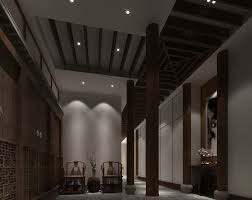 painting on the wallDark hallway with nicely looking pillars big painting on the