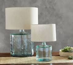 recycled glass lighting. Mallorca Recycled Glass Table Lamp Base Lighting G