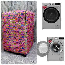 Review [vải dù xịn không nổ vỏ] áo trùm máy giặt cửa trước cửa dành cho máy  giặt toshiba inverter 8.5 kg (mẫu bướm hồng)