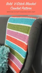 V Stitch Crochet Pattern Inspiration VStitch Blanket Crochet Pattern Daisy Cottage Designs
