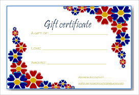 Free Printable Gift Certificate Template Word 16 Free Gift Certificate Templates Examples Word Excel