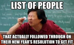 Image result for new year's resolution list meme