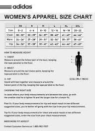 Adidas Golf Shirt Size Chart Adidas Size Chart Ladies