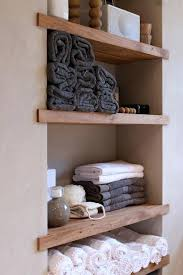 built in wall shelving built in shelving for the bathroom good idea for our small shelf