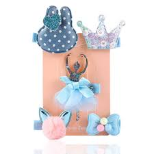 <b>5PCS</b>/<b>Set</b> Baby Girls <b>Hairpins</b> Barrettes Cartoon <b>Flower</b> Crown ...