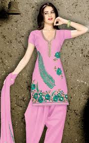 Arkandi Suit Designs Pink Arkandi Cotton Designer Salwar Kameez