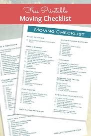 Free Printable Moving Checklist How To Plan A Big List Free Printable Moving Checklist Free