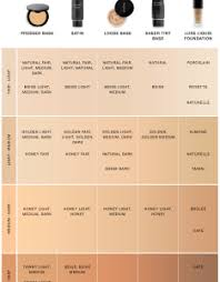 Glo Minerals Colour Chart Lancome Foundation Color Chart Bedowntowndaytona Com