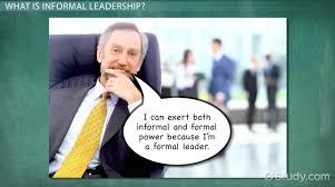 informal leadership definition explanation video lesson informal leadership definition explanation video lesson transcript com