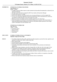 Gas Plant Operator Resume Examples Chemical Professional Templates