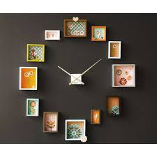 diy picture frame wall clock