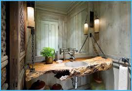 Rustic Bathroom Wonderful Rustic Bathroom Mirror Ideas Intended Design