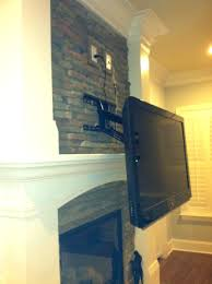 mount above fireplace no studs mounting tv brick hiding wires wall over hide cables