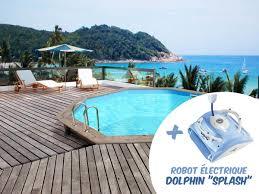 Piscine Bois Venecia 5 80 X 1 31m Robot Dolphin Splash 85318