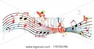 Stave Music Colorful Stave Music Vector Photo Free Trial Bigstock
