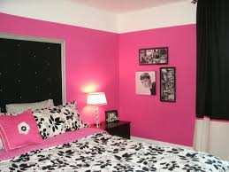 Dramatic Hot Pink, Black & White Teen Bedroom contemporary-bedroom