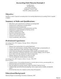skills and qualifications accounting clerk resume 11 excellent objective and summary of skills