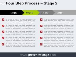 Process Template 4 Step Process Powerpoint Template Presentationgo Com