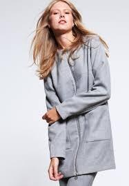 vila vitravels classic coat light grey melange women clothing coats vila leather look leggings attractive design
