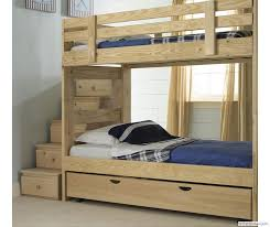 Bedroom Design, Stackable Bunk Bed With Storage Stairs And Trundle Bed: How  To Make a Bunk Bed For Your Modern Home