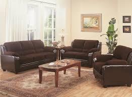 Two Piece Living Room Set Coaster Monika Stationary Sofa With Wood Feet Coaster Fine Furniture