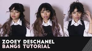 zooey deschanel bangs tutorial how i cut my bangs how to cut zooey deschanel bangs