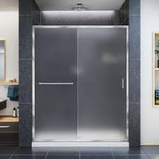 infinity z 32 in x 60 in semi frameless sliding shower door