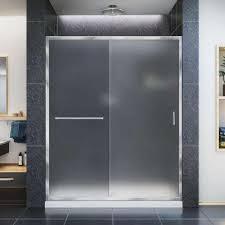 infinity z 32 in x 60 in semi frameless sliding shower door