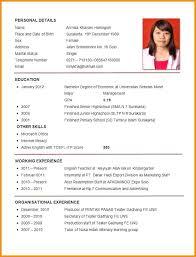 Resume Template Best Resume Sample Format For Job Application