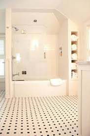 traditional white bathroom ideas. Shower Cut Out Traditional White Bathroom Ideas With Wall Subway Tile Towel  Storage Off Valve Timer Traditional White Bathroom Ideas