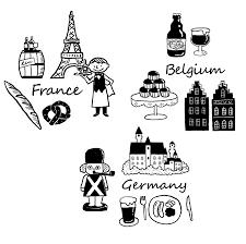 かわいいヨーロッパフランスベルギードイツ要素の入ったの