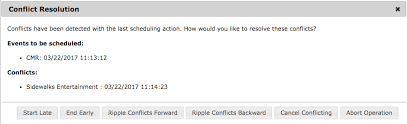 Schedule Conflict Scheduling Conflicts And Ripple Telvue