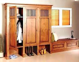wood storage locker entryway lockers for home wooden units with doors plans