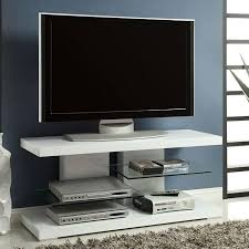 white tv stand. high gloss white tv stand w/ glass shelves tv i