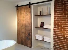 double sliding door bathroom cabinet. our barn door hardware from rustica fit needs perfectly to attach 200 year. sliding bathroom double cabinet