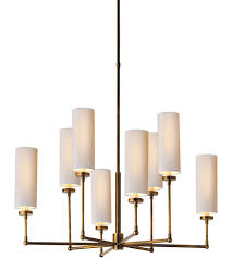 visual comfort tob5016hab np thomas obrien ziyi 8 light 34 inch hand rubbed antique brass chandelier ceiling light