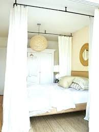 Diy Canopy Bed Diy Bed Canopy Using Curtains – thequattleblog.com