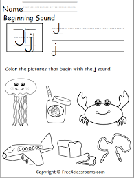 Check out our different sets of worksheets that help kids practice and learn phonics skills like beginning sounds, rhyming and more. Free Beginning Sounds Worksheet Letter J Free4classrooms
