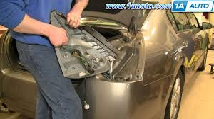 how to install replace taillight and bulb nissan maxima 04 08 1aauto Dodge Caravan Tail Light Wiring at 1999 Nissan Altima Tail Light Wiring Harness