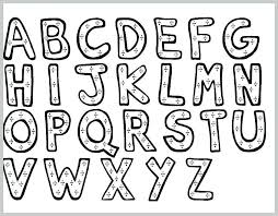 Free Printable Alphabet Letters Coloring Pages A Z For Adults